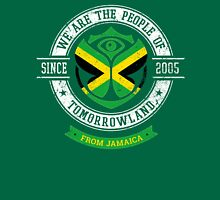 People of Tomorrowland country Flags logo Badge - Jamaica - Jamaican - jamaique - Jamaicain - Caribbean Unisex T-Shirt