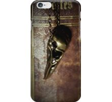 Still life with book and bird skull pendant iPhone Case/Skin