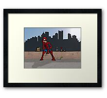 Even SuperHeroes Need McDonalds Framed Print