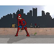 Even SuperHeroes Need McDonalds Photographic Print