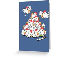 Cucco Pile On Greeting Card