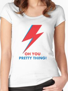 """David Bowie """"Oh You Pretty Thing!"""" original design Women's Fitted Scoop T-Shirt"""