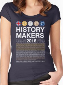History Makers GB 2016 Women's Fitted Scoop T-Shirt