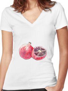 pom pom Women's Fitted V-Neck T-Shirt