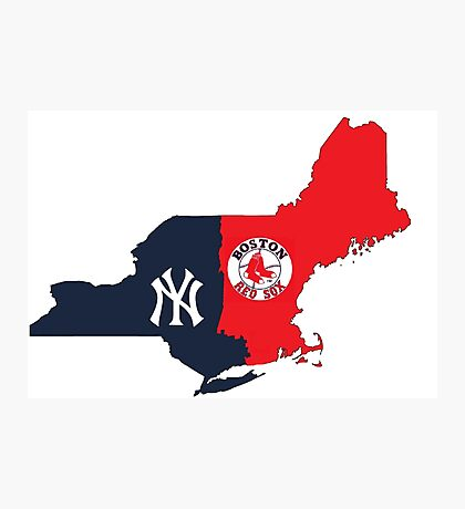 MLB Rivalry Map Photographic Print