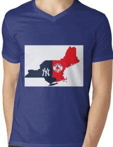 MLB Rivalry Map Mens V-Neck T-Shirt