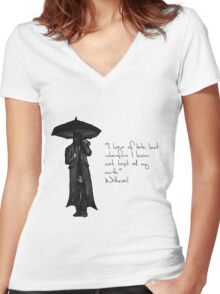 Withnail & I - Quote  Women's Fitted V-Neck T-Shirt