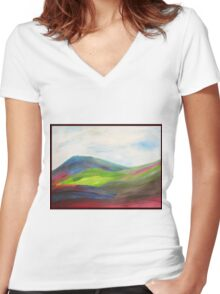 Wilderness Found- by Margaret Harker for Silver Falcon Arts Women's Fitted V-Neck T-Shirt
