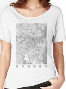 Sydney Map Line Women's Relaxed Fit T-Shirt