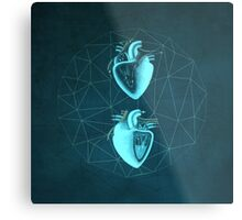 Double Heart Metal Print