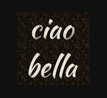 Ciao bella Hi beautiful bw Women's Fitted V-Neck T-Shirt