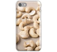Closeup view on raw cashew nuts iPhone Case/Skin