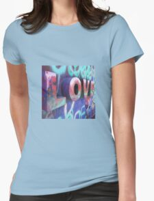 Graffiti with Love Womens Fitted T-Shirt