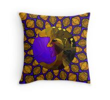 Smoldering Woman in a Kaleidoscope Throw Pillow