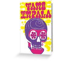Tame Impala smoking skull logo text Greeting Card