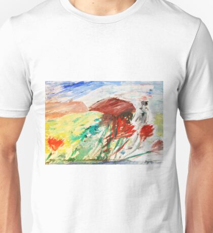 Through the Poppy Field by Margaret Harker for Silver Falcon Arts Unisex T-Shirt