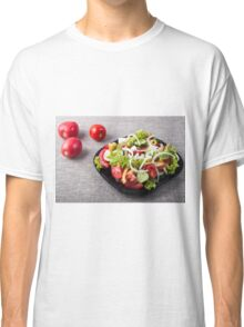 Small bowl of salad made from natural raw vegetables Classic T-Shirt