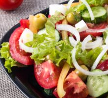 Small bowl of salad made from natural raw vegetables Sticker