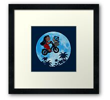 Stitch Phone Home Framed Print