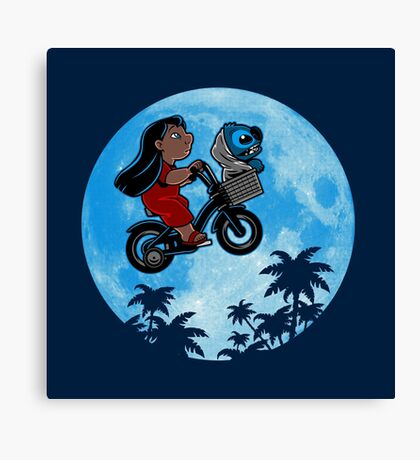 Stitch Phone Home Canvas Print