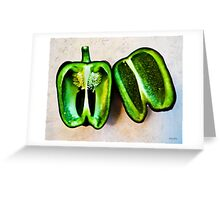 Poblano Pepper Greeting Card