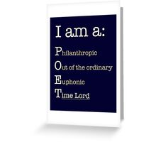 I am A POET.  Greeting Card
