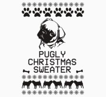 Pugly Christmas Sweater (black)  One Piece - Short Sleeve