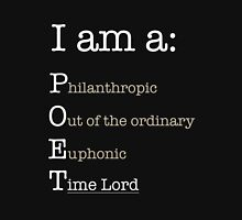 I am A POET.  Womens Fitted T-Shirt