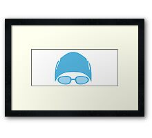 Swimmer Water Polo Goggles Framed Print