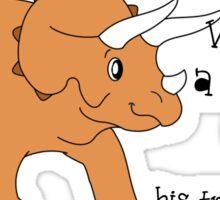 Triceratops Dinosaur Joke Sticker