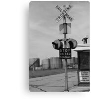 Stop on Red Signal Canvas Print