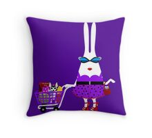 Heartless Bunny and the Princess Go to the Store Throw Pillow