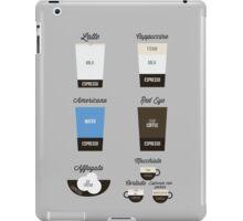 Espresso Drinks Diagram iPad Case/Skin