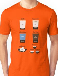 Espresso Drinks Diagram Unisex T-Shirt