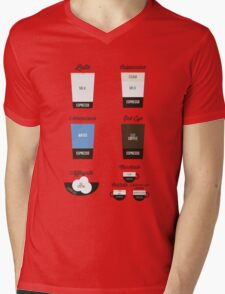 Espresso Drinks Diagram Mens V-Neck T-Shirt
