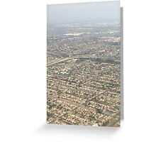 LA from Above Greeting Card