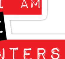 """""""I am the Intersect""""  Sticker"""