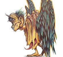 One Eyed Winged Old Man by Byron Rhodes