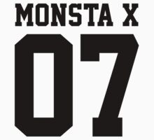 Monsta X 07 Athletic Style (Black) One Piece - Long Sleeve