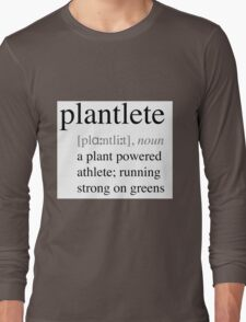Plantlete - plant powered athlete Long Sleeve T-Shirt