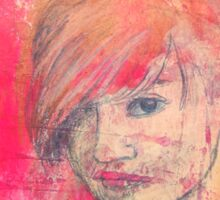 Jaynie - original portrait of a girl Sticker