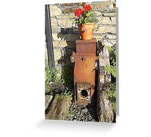 Corcreggan Mill Geraniums Greeting Card