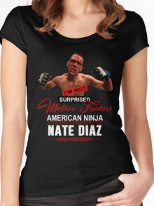 Nate Diaz Women's Fitted Scoop T-Shirt