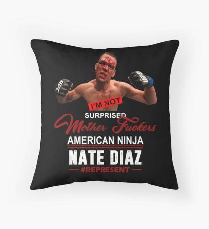 Nate Diaz Throw Pillow