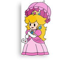 Paper Peach - Paper Mario Colour Splash  Metal Print