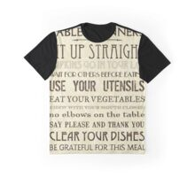 Table Manners Graphic T-Shirt