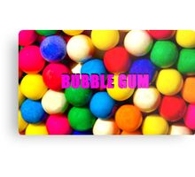 Bubble Gum with text Metal Print