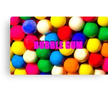 Bubble Gum with text Canvas Print