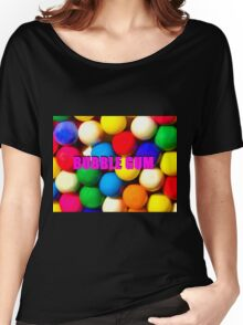 Bubble Gum with text Women's Relaxed Fit T-Shirt