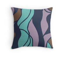 Unique copper accent abstract design ! Throw Pillow